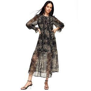 Topshop Animal Print Dress